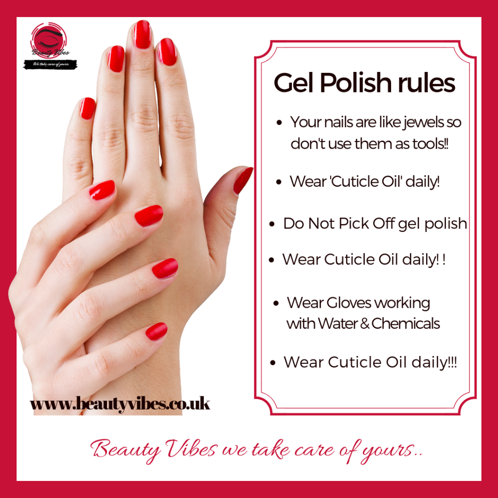 Gel Polish Rules Beauty Vibes We Take Care Of Yours Finchley Mantra Beautician